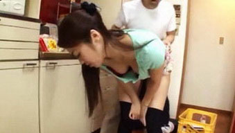 Japanese Housewife Goes Dirty With Plumber