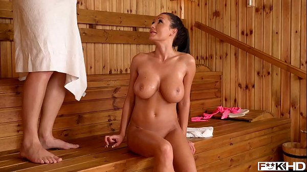 Sauna hot titty fuck with leads to intense Hardcore pussy Pounding