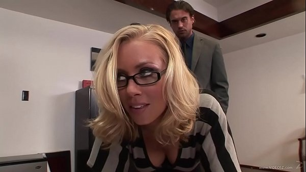 Horny Blonde Secretary gets Standing Doggy Fuck in the Office